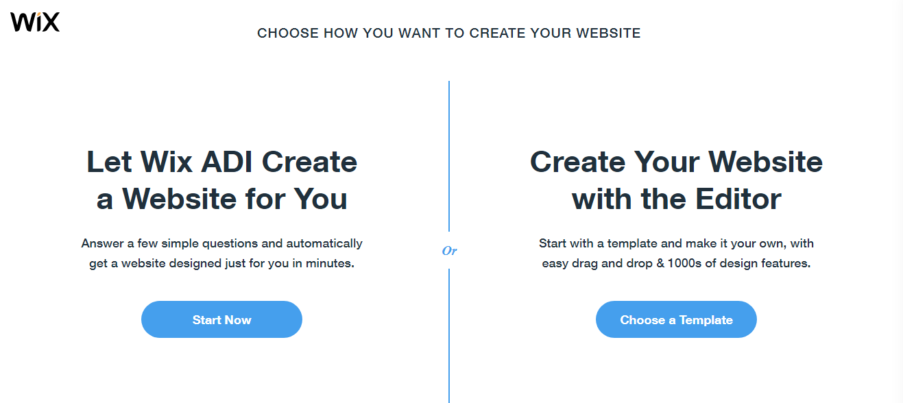 wix website create