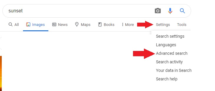 images advance search