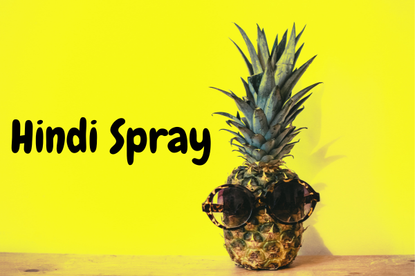 hindi spray